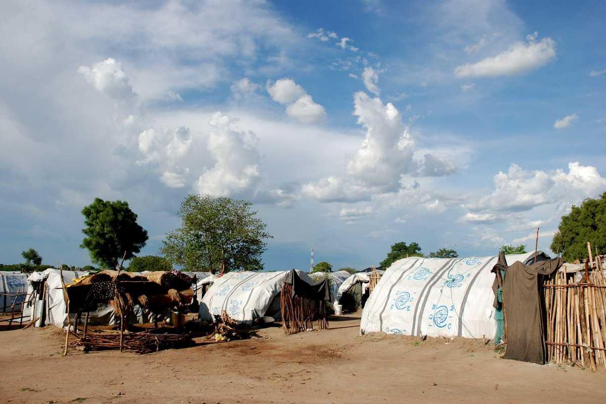 Zelte im Flüchtlings-Camp
