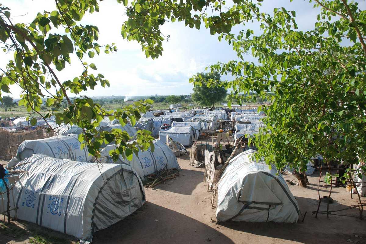 Zelte im Flüchtlingscamp
